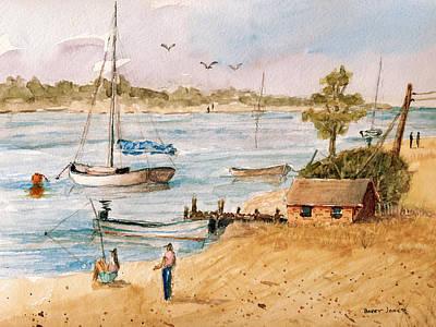 Fun In The Sun - Watercolor Original by Barry Jones