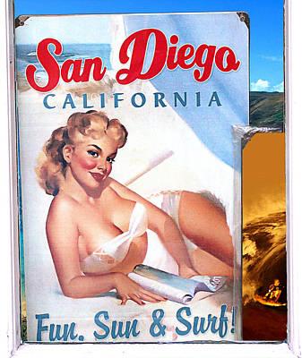 Fun Sun And Surf Print by Ron Regalado