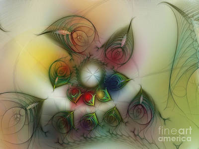 Expressive Expressions Digital Art - Fun With Gardening by Karin Kuhlmann