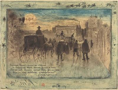 Mood Painting - Funeral Procession On The Boulevard De Clichy by Mountain Dreams