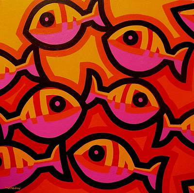 Colorful Tropical Fish Painting - Funky Fish Iv by John  Nolan