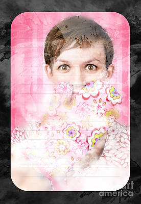 Funny Cooking Woman With Surprised Expression Print by Jorgo Photography - Wall Art Gallery
