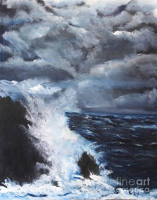 Turbulent Skies Painting - Fury by Chaline Ouellet