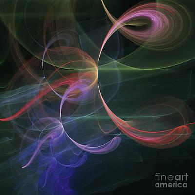 Digital Art - Futuristic Background by Design Windmill