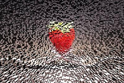 Futuristic Strawberry Print by Clare Bevan