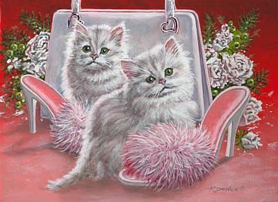 Animal Painting - Fuzzy Footwear by Richard De Wolfe