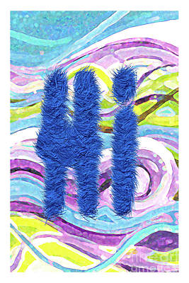 Fuzzy Hi Abstract Original by Genevieve Esson