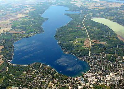 G-028 Geneva Lake And Como Lake Wisconsin Print by Bill Lang