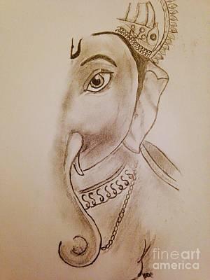 Gauri Nandan Shree Ganesh Print by Navroz  Raje