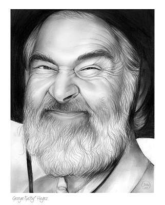 Television Drawing - Gabby Hayes by Greg Joens