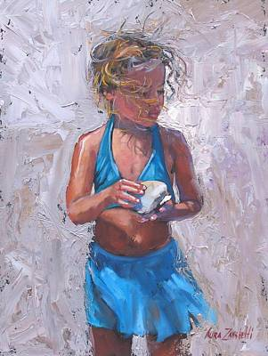 With Pallet Knife Painting - Gabby by Laura Lee Zanghetti