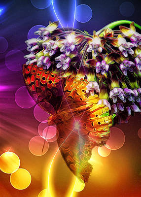 Galactic Digital Art - Galactic Butterfly Effect by Bill Tiepelman