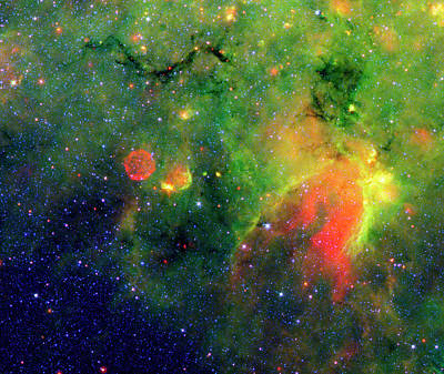 Galactic Snake In Infrared Milky Way Print by Mark Kiver