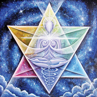 Merkaba Painting - Galactic Starseed Goddess by Tiffany Davis-Rustam