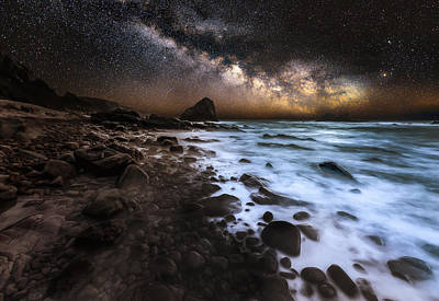 Long Exposure Photograph - Galactic Warmth by Nick Venton