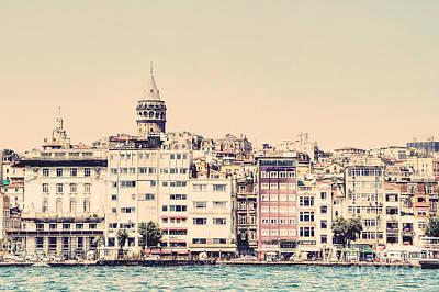 Galata Photograph - Galata Tower Along The Bosphorus by Emily Kay