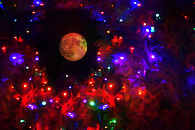 Full Moon Photograph - Galaxy Of Lights by Emily Stauring
