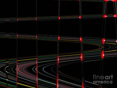 Galaxy Stoplights Print by Ann Johndro-Collins