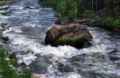 Gallatin River Photograph - Gallatin River House Rock by Timothy Hacker