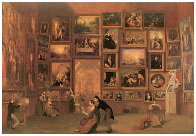 Louve Painting - Gallery Of The Louvre by Samuel Morse