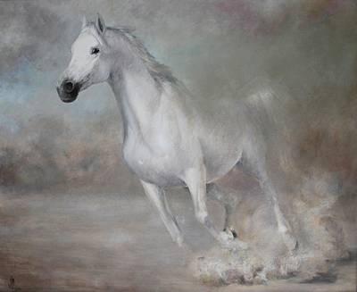 Egg Tempera Painting - Gallop by Vali Irina Ciobanu