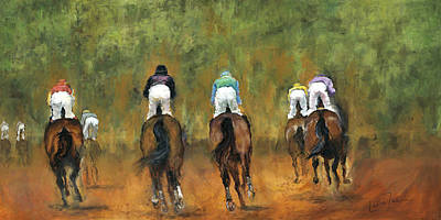 Galloping Out Print by Leisa Temple