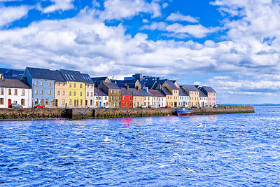 Galway On The Water Print by Mark E Tisdale
