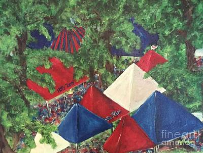 Game Day In The Grove Print by Tay Cossar Morgan