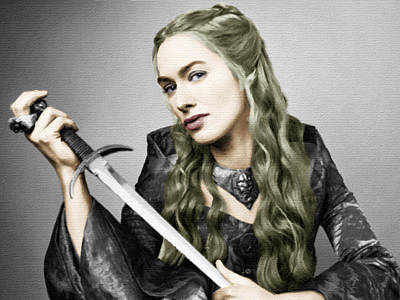 Game Of Thrones Cersei Lannister Lena Headey Print by Tony Rubino