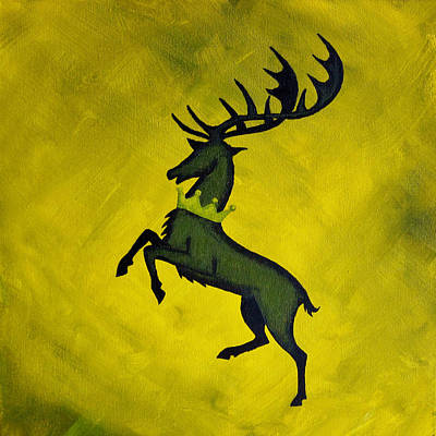 Lannister Painting - Game Of Thrones House Baratheon Sigil by Michelle Eshleman