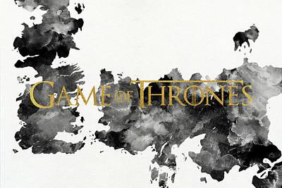 Lannister Digital Art - Game Of Thrones Map by Taylan Soyturk