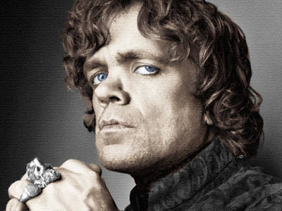 Half Man Painting - Game Of Thrones Tyrion Lannister Peter Dinklage by Tony Rubino