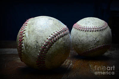Game Used Baseballs Print by Paul Ward