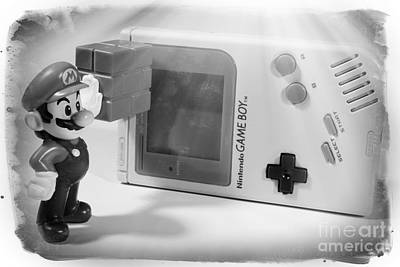 Gameboy First Edition Gray Handheld System Print by Stefano Senise