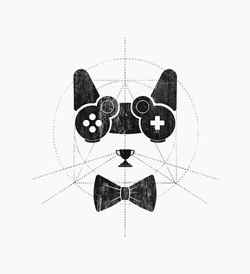 Cats Drawing - Gameow by Mustafa Akgul