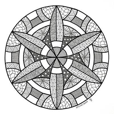 Gamma - Zen Mandala Print by Sabina Jandura