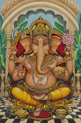 Ganesha Painting - Ganapati Darshan by Vrindavan Das