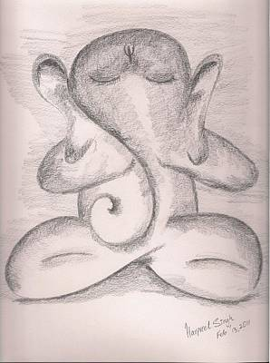 Ganesh Print by Harpreet Singh