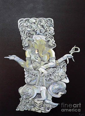 Original featuring the painting Ganesh The Elephant God by Eric Kempson