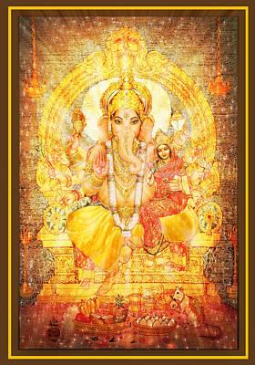 Spiritual Mixed Media - Ganesha Ganapati  by Ananda Vdovic