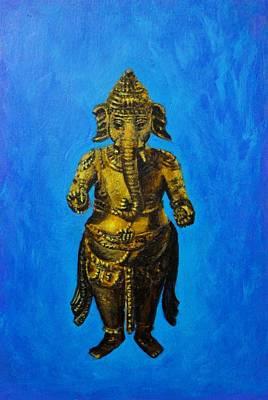 Vinayaka Painting - Ganesha Idol by Usha Shantharam