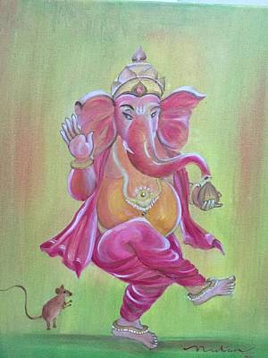 Vinayaka Painting - Ganesha by Nutan Bathula
