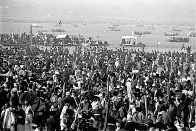 India Babas Photograph - Ganges - Kumbh Mela  by John Battaglino