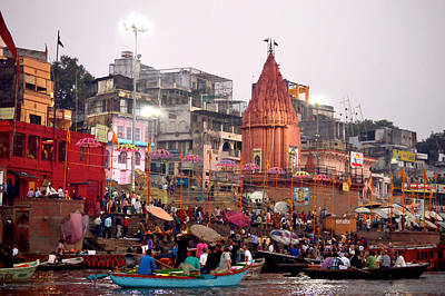 Cremation Ghat Photograph - Ganges Morning by John And Laurel Rodgers
