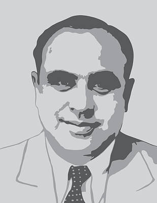 Gangs Digital Art - Gangster - Al Capone by War Is Hell Store