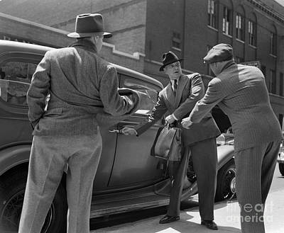 Gangsters Holding Up Man, C.1940s Print by H. Armstrong Roberts/ClassicStock