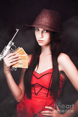 Ganster And Her Gun Print by Jorgo Photography - Wall Art Gallery