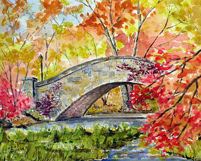 Gapstow Bridge In November Original by Chris Coyne
