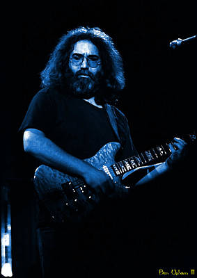 Grateful Dead Photograph - Garciart #1 In Blue by Ben Upham