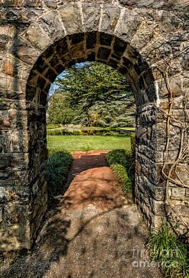 Garden Archway Print by Adrian Evans